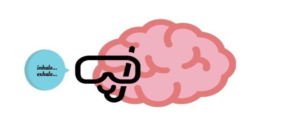 brain with scuba mask